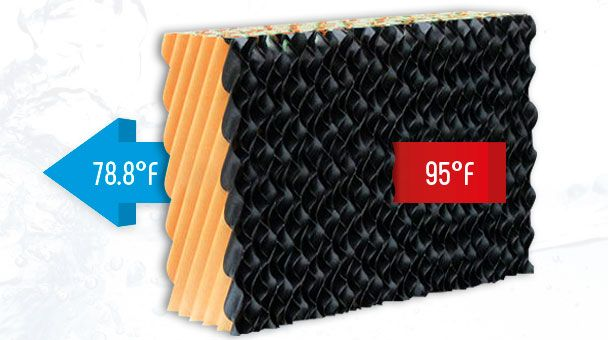 Evaporative Panel with European Technology or COOLING PAD